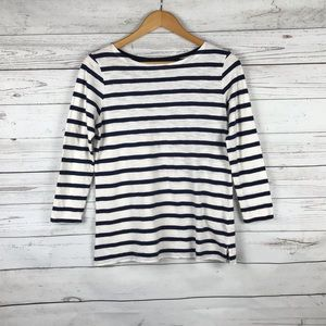 Old Navy Boatneck Striped 3/4 Tee Size S